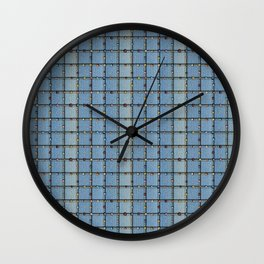 Blue Denim Patchwork Wall Clock