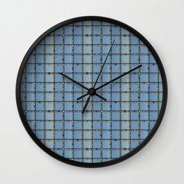 Blue Denim Patchwork Wall Clock