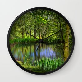 Spring views Wall Clock