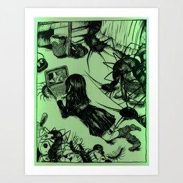centipede print (1 of 2) Art Print