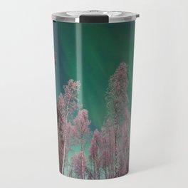 Northern Lights Pine Trees (Color) Travel Mug