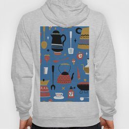 Kitschy Kitchen in Mod Blue Hoody