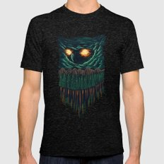owl 2X-LARGE Mens Fitted Tee Tri-Black