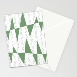 Abstract geometric pattern on white background Stationery Cards