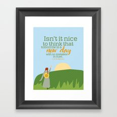 Tomorrow is a new day with no mistakes in it Framed Art Print