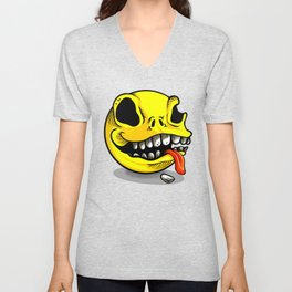 Packman Skull Unisex V-Neck
