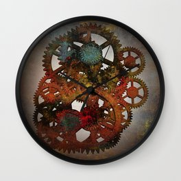 Industrial Rust Wall Clock