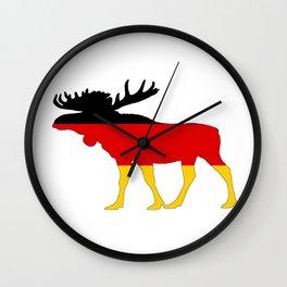 German Flag - Moose Wall Clock