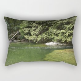 Waterhole in the Forest Rectangular Pillow