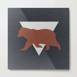Bear & Bravery Metal Print