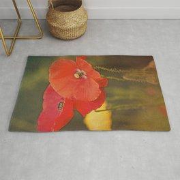 Poppies vintage 6 Rug