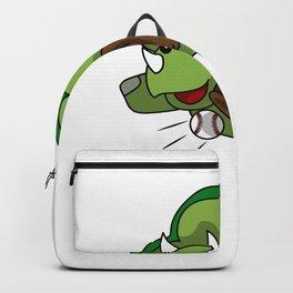 Baseball Triceratops Dino Sports Kids Gift Backpack
