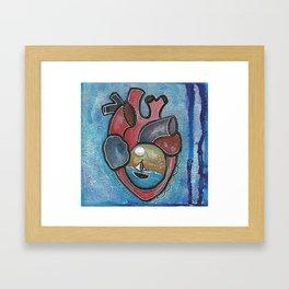 Seasick Hearts Framed Art Print