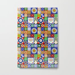 A Spanish tiles pattern Metal Print