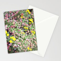 pink and yellow flowers Stationery Cards
