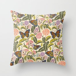 Save Our Monarchs Throw Pillow