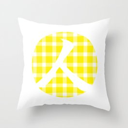 Plaid Canary Yellow Person Throw Pillow