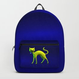 The Yellow Cat And Glass Blue Cherry Backpack