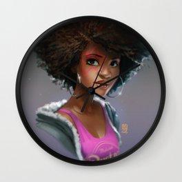 Random Faces #003 // Girl pop Wall Clock
