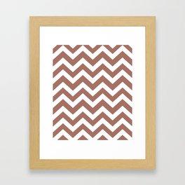 Blast-off bronze - violet color -  Zigzag Chevron Pattern Framed Art Print