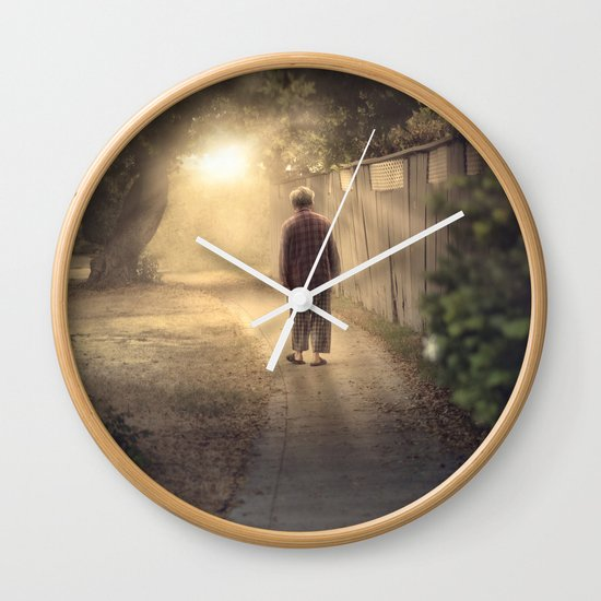 """It's time,"" he said. Wall Clock"