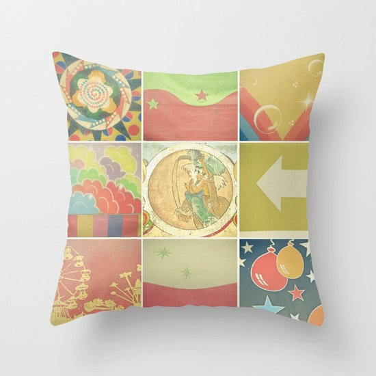 Fairground Details Throw Pillow