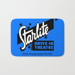 Starlite Drive-In Niagara Falls in Blue Bath Mat