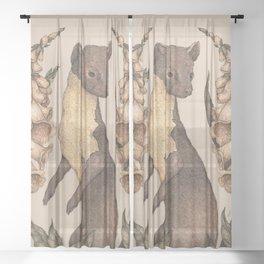 The Marten and Foxglove Sheer Curtain