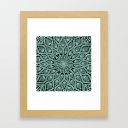 Delicate Teal Framed Art Print