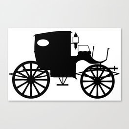 Old Carriage Silhouette Canvas Print
