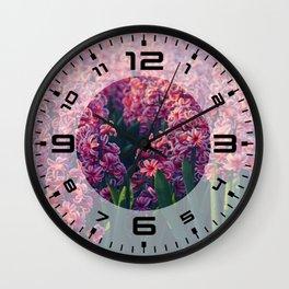 Hyacinth field #2 Wall Clock