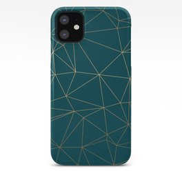 Benjamin Moore Hidden Sapphire Gold Geometric Pattern iPhone Case