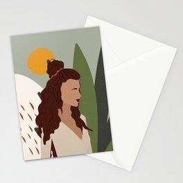 Abstract Boho Lady Stationery Cards