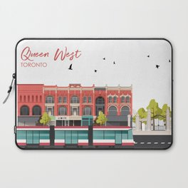 Queen West - Toronto Neighbourhood Laptop Sleeve