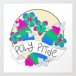 Poly Pride Flowers Art Print