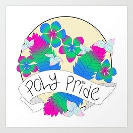 Poly Pride Flowers Art Print
