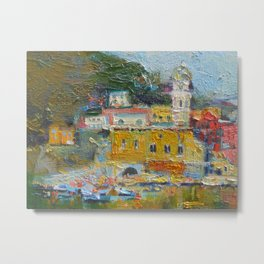 Oil painting. Italy. Colorful painting Metal Print