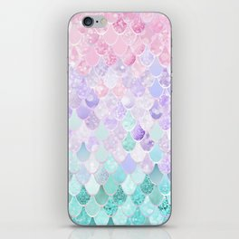 Mermaid Pastel Iridescent iPhone Skin
