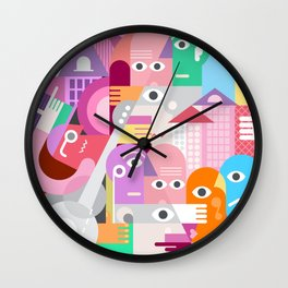A Large Group Of People Wall Clock