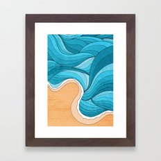 Beach Tide Framed Art Print