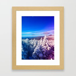Killington Powder Day Framed Art Print
