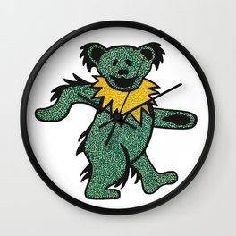 Grateful Dancing Bear Wall Clock