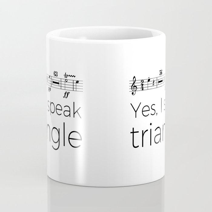 I speak triangle Coffee Mug