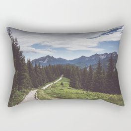 Greetings from the trail - Landscape and Nature Photography Rectangular Pillow