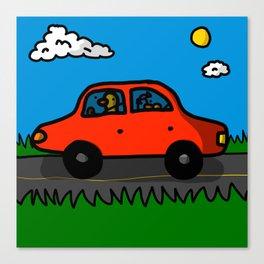 Road Trip ft. Baby Duck | Veronica Nagorny  Canvas Print