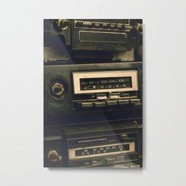 Vintage Car Radio 6 Metal Print