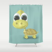 tortoise Shower Curtains featuring Tortoise by Ainaragm