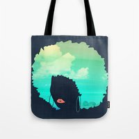 afro Tote Bags featuring Afro by Studio Samantha