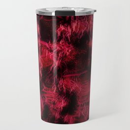 Claret stained texture abstract Travel Mug