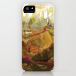 Abstract landscape 7 iPhone Case